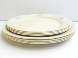"""8 Corelle Lace Bouquet (4) 10 1/4"""" Dinner (4) 9"""" Luncheon Blue Floral Set Plates - $69.17"""