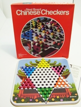 Pressman Chinese Checkers Steel Board Game Metal 60 Marbles Family Game ... - $9.99