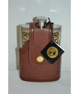 Franklin Mint The 10 Point Deer / Buck Steel Flask w Leather Case NEVER ... - $60.00