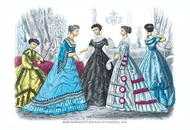 Mme. Demorest's Mirror of Fashions, 1840 #9 - Art Print - $19.99+