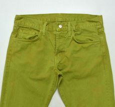 J Brand Green Denim Button Fly Jeans Pants Boot Cut Womens Size 32 x 32.5 image 3
