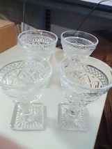 4 Imperial Cape Cod Clear Goblets - $5.51