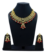 NUHA Fashion Gold Plated Necklace Set with Earrings for Women and Girls - $39.13