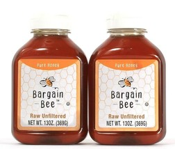 2 Bottles Bargain Bee 13 Oz Raw Unfiltered Pure Honey 60 Calories Best By 4/2022 - $20.99
