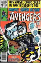 Marvel Super Action Comic Book #23 The Avengers 1980 FINE+ - $3.50