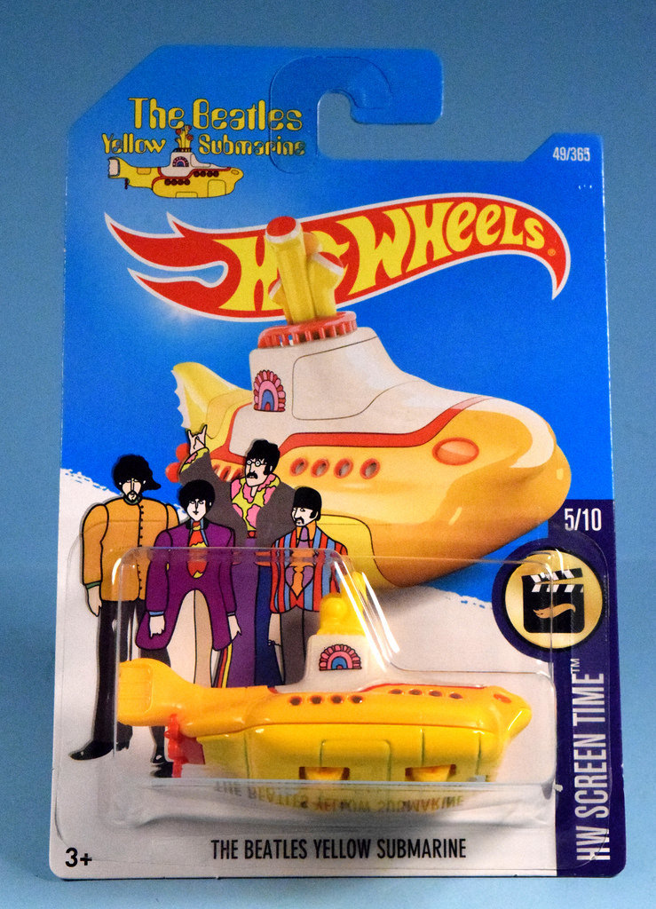 THE BEATLES YELLOW SUBMARINE Hot Wheels HW Screen Time 5/10 New in the Box !