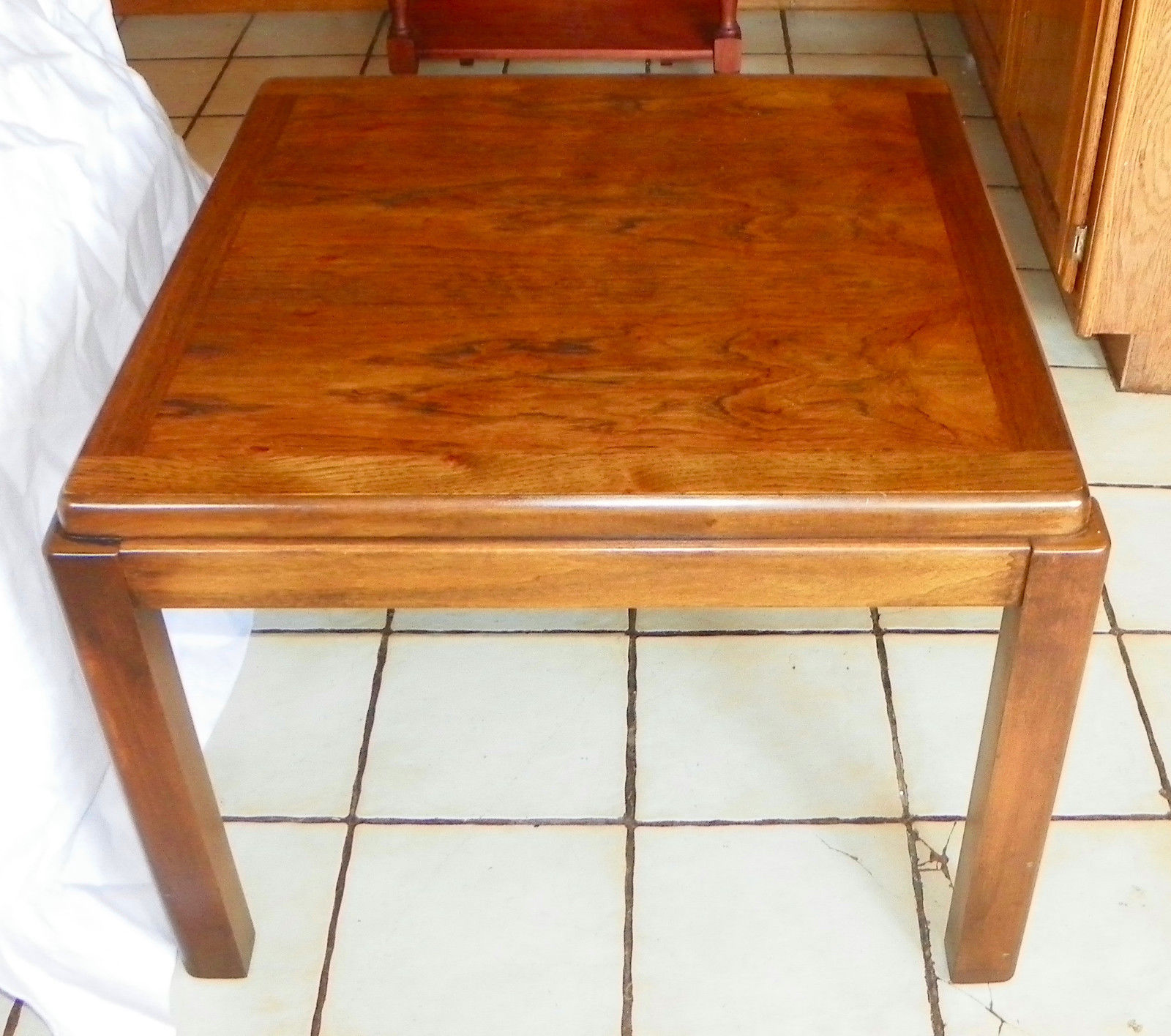 Pecan & Walnut Lamp Table / End Table by Lane