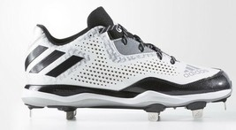 Adidas Power Alley 4 Metal Beisbol Tacos Q16492 Blanco Negro Plateado  Tamaño 12 -  69.02 be67950cea783