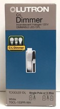 (New) Lutron Toggler CL 150W Single-Pole/3Way  Dimmer White TGCL-153PR-WH - $19.49