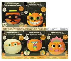 "HALLOWEEN No Mess DECORATING KIT Fits 9-11"" Pumpkin GREAT FOR KIDS*YOU C... - $3.99"