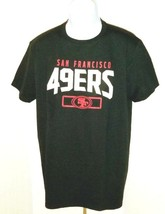 San Francisco 49ERS Mens NFL Team Apparel T-Shirt Black 100% Cotton L New - $15.17