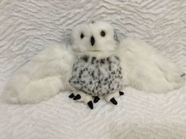 Folkmanis Spotted Snowy Owl Hand Puppet Head Turns/Rotates Plush Stuffed - $17.81