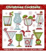 Christmas Cocktails Mini Sampler cross stitch chart Pinoy Stitch - $10.80