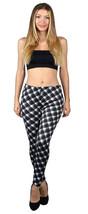 Warm Pants Fleece Lined Retro Black and White Geometric Plaid S/M  - $15.17