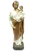 "32"" Saint St Joseph with Jesus Child Catholic Statue Sculpture Vittoria ... - $329.99"
