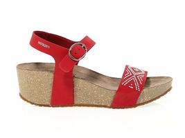 Keilschuhe MEPHISTO FANIE SP R in rosso nabuk - Schuhe Damen - $137.53