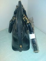 Giani Bernini Glazed Faux Leather Dome Bag Purse w/Detatchable Strap Black  NEW- image 8