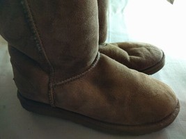 Womens Shoes UGG Size 5.5 Synthetic Brown Boots - $39.36