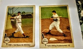 Ted Williams 1960 Fleer Cards. 2 from the series # 72 and # 13 both in V... - $29.70