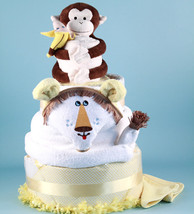 DELUXE LION KING DIAPER CAKE BABY GIFT - $188.00