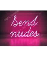 "New Send Nudes Live Girl Neon Sign Acrylic Gift Light Lamp Bar Wall 14""x10"" - $60.00"