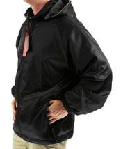 Lax Men's Water Resistant Removable Hood Security Reversible Jacket Black image 2