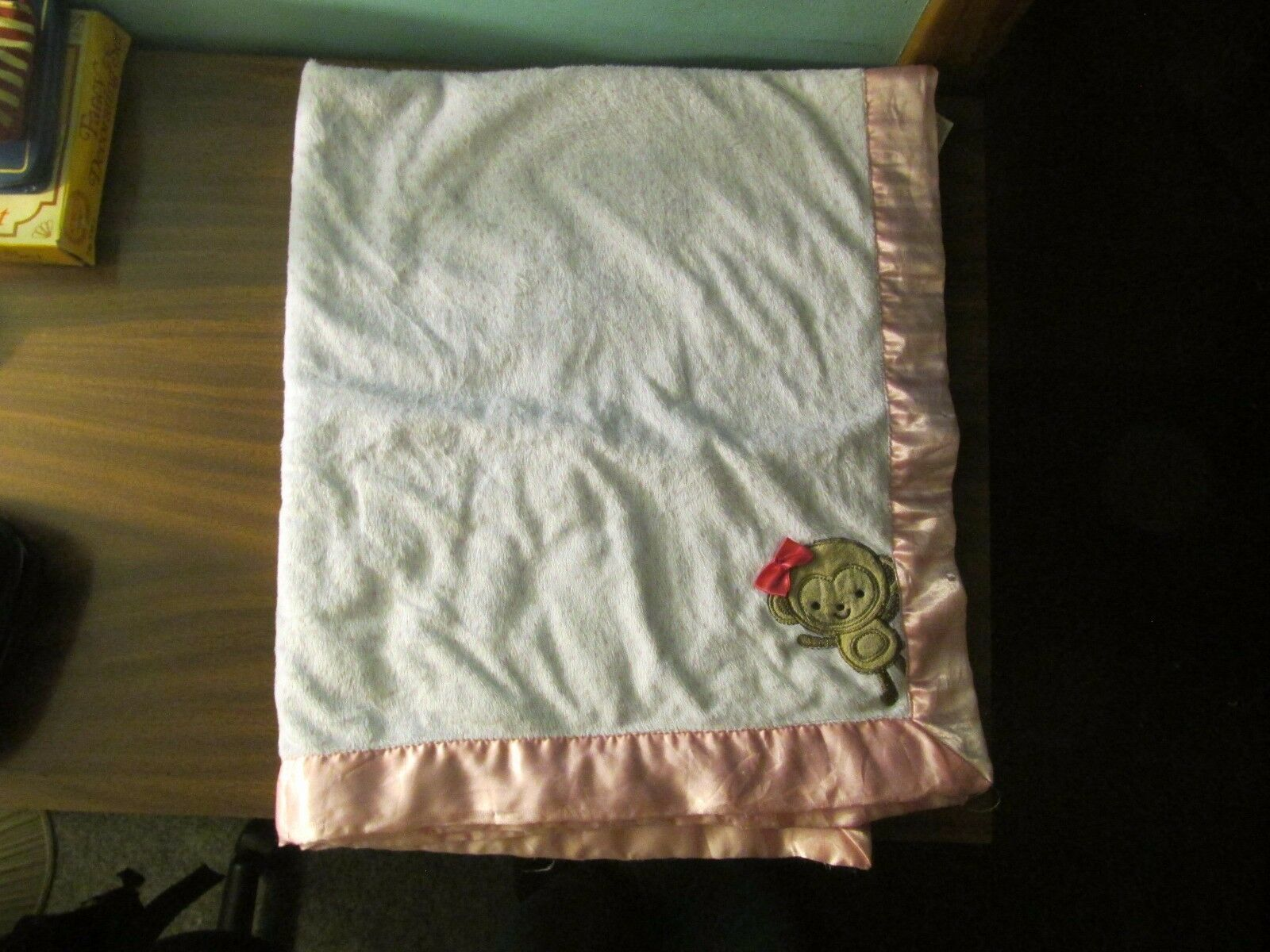 5cd34f788 57. 57. Previous. Carters Just One You Pink Polka Dot Monkey Baby Blanket  Bow Satin ...