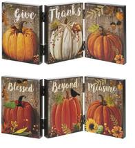 Ganz Light Up Pumpkin Accordion Signs Set Of 2 Assorted - $53.70