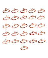 Rose Gold Initial Letters Stackable Ring (Sizes 4-6) - $79.99
