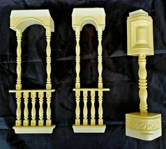 PLAYSKOOL Victorian Dollhouse Porch Post Inserts Vintage 1991 3 Pieces - $15.47
