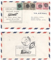 1938 Natl Air Mail Week McComb Mississippi Airport Ded. Cover GREAT CANCELS - $7.69