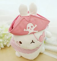 Molang Pirate Stuffed Animal Rabbit Plush Toy 8.6 inches 22cm (Pink) image 5