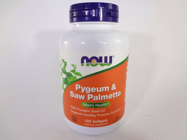 NOW Pygeum & Saw Palmetto Men's Health 120 Softgels {VS-N} - $22.44