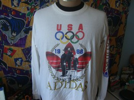 Vintage 1988 Adidas Olympics Made in USA Long Sleeve T Shirt L - $98.99