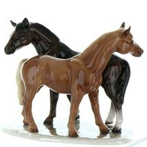 Hagen Renaker Specialty Horse Best Friends Grooming Ceramic Figurine image 4