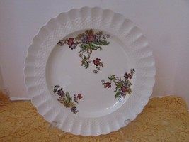 SPODE COPELAND CHINA SALAD PLATE BASKET WEAVE WICKER LANE MADE IN ENGLAND  - $7.87