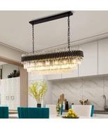 Black LED Crystal Chandelier For Luxury Kitchen Island Hanging Lighting ... - $1,449.99+