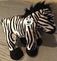 Build A Bear Zebra Collectibear World Wildlife Series Plush Toy Stuffed ... - $13.85