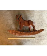Wooden Rocking Horse Built Solid Wood Stain Standard Varnish 35 x 25 x 15 - $276.19