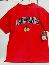 Hanes NHL Official Chicago Blackhawks Red Short Sleeve T-Shirt Large - $7.38
