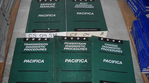 2004 CHRYSLER PACIFICA Service Repair Shop Manual Set FACTORY OEM 2004 5 VOL