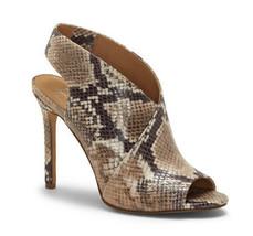 Jessica Simpson Jourie Taupe Multi Snake Skin Prin Peep Toe Sandal 7.5 8... - $45.00