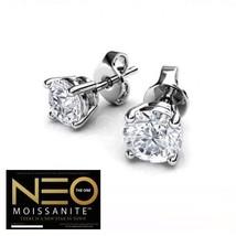 2.00 Carat NEO Moissanite Stud Earrings in 14K Gold (with NEO warranty c... - $799.00