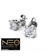 2.00 Carat NEO Moissanite Stud Earrings in 14K Gold (with NEO warranty c... - $799.00