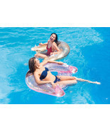 Intex Glitter Sit N Float, Gold and Pink Swimming Pool Float - $26.99