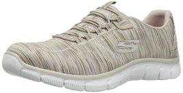 Skechers Sport Women's Empire Game on Fashion Sneaker, Taupe Knit, 8 M US - $69.99