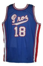 Killa Smuv #18 Pros Basketball Jersey Sewn Blue Any Size - $34.99