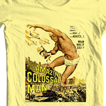 Colossal man t shirt retro vintage sci fi horror 1950s tee online store for sale yellow thumb200