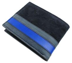 Tommy Hilfiger Men's Leather Canvas Credit Card Wallet Billfold Navy 31TL22X050 image 3
