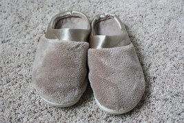 Tan Microterry Pillowstep Isotoner Size 7.5-8 Slip-On Slippers - £19.04 GBP